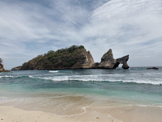 The emerald Atuh Beach on Nusa Penida